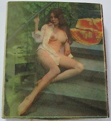VINTAGE EROTIC 3D LENTICULAR MATCH BOX NUDE MODELS UNUSED MATCHES 1960s 1970s