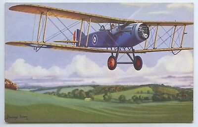1930's Pt Promotional Postcard Ww1 Bristol Fighter Plane Howard Leigh Artist V81