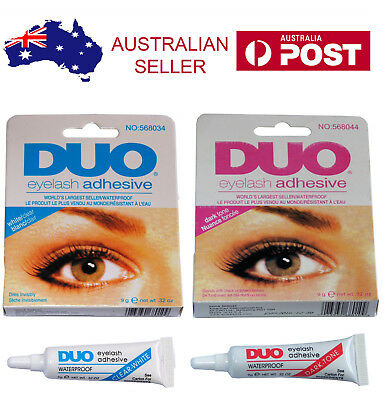 DUO Waterproof Eyelash Glue False Eyelash Adhesive White Clear / Dark Black