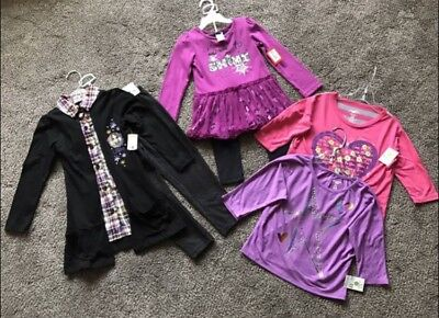 NWT Girls Clothing Disney, Kidgets, Extremely Me, Lot of 6 pcs, Size 4T and 5-6X