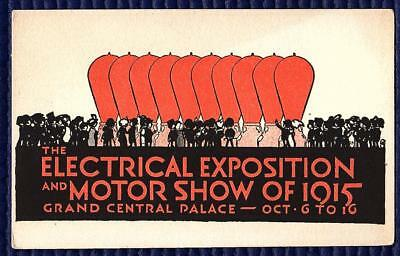 The Electrical Exposition And Motor Show Of 1915. Grand Central Palace Blotter