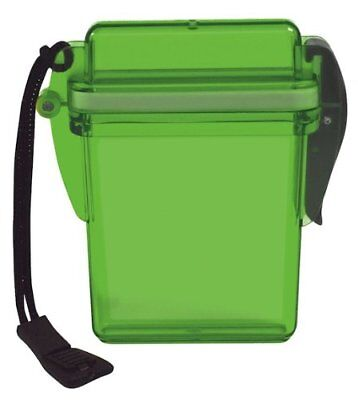 Outdoor Products Watertight Card Case GREEN TRANSLUCENT CREDIT CASH WATERPROOF