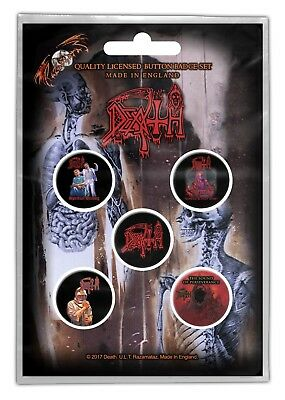 Death Albums Scream Human Spiritual Leprosy 5 Button Set Badge Pack Metal Badges