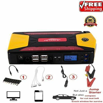 82800mAh Portable Car Jump Starter Pack Booster Charger Battery Power Bank MT WW