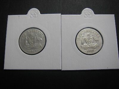 1912 And 1914 Shilling Coins
