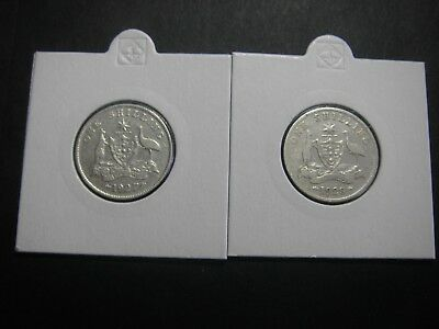 1927 And 1928 Shilling Coins