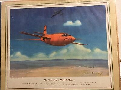 Bell XS-1 Rocket plane print Charles Hubbell