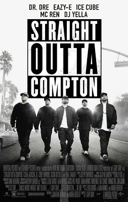 STRAIGHT OUTTA COMPTON MOVIE POSTER 2 Sided ORIGINAL FINAL 27x40 NWA