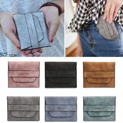 Womens Small Card Holder Wallet Coin Purse Clutch PU Leather Change Mini Bag TP