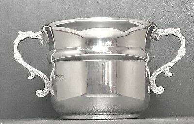 Georgian V Sterling Solid Silver Twin Handles Bowl , Hallmarked 1919