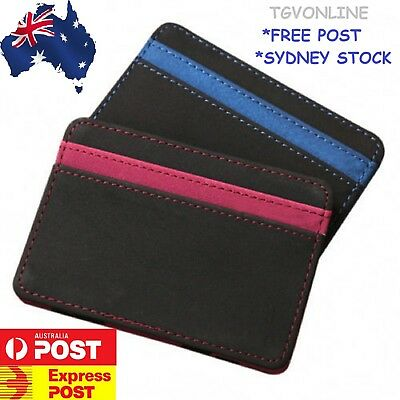 Mens Magic Flip Leather Wallet Slim Credit Card Holder Ultra Style 2