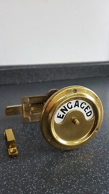 Antique Bathroom Brass Vacant Engaged Door Lock Wc Toilet Vintage Ashwells Retro