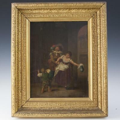 "Antique Dutch Oil on Panel Signed:""ERS"" Lot 156"