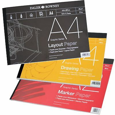 Daler Rowney Graphic Series Pads - Layout, Tracking or Bristol Board