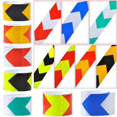 """3M 2"""" X 10' Night Reflective Safety Warning Conspicuity Tape Strip Arrow Sticker"""