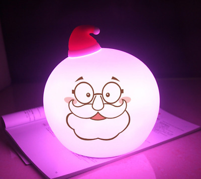 New Rechargeable wizard/snowman witch 7 color led night light Silicone Lamp