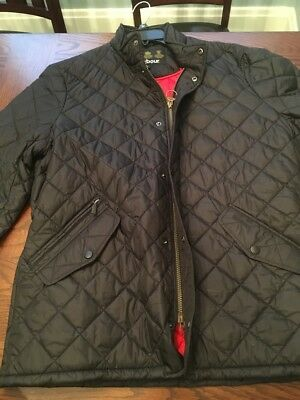 Barbour Men's Flyweight Chelsea Quilted Jacket - Black Size L