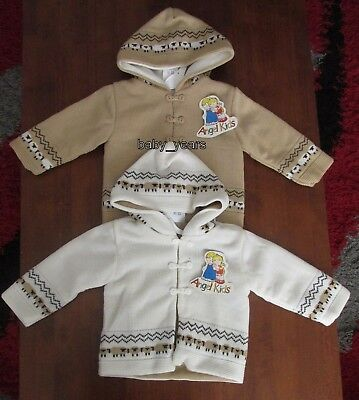 Baby Hooded Chunky Cardigan Knitted Boys Girls Pram Jacket Coat 0-3 3-6 6-9 Mth