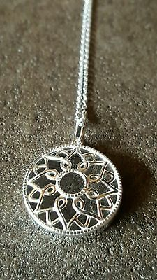 "NEW STERLING SLIVER .925 YOU ARE MY SUNSHINE NECKLACE ""Brand New"""