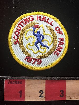 Vtg 1979 SCOUTING HALL OF FAME BSA Boy Scout Patch ~ Flame 72B7