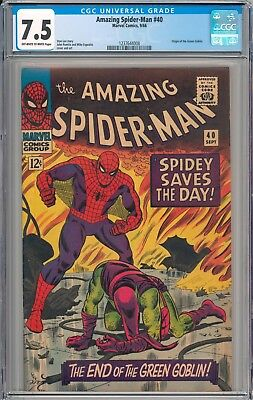 Amazing Spider-Man #40 CGC 7.5 VF- Origin of the Green Goblin NEW SLAB