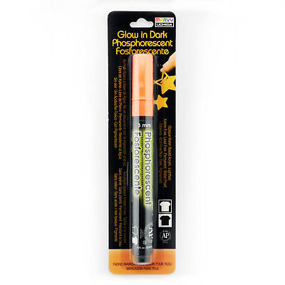 Marvy Uchida® Glow In Dark Deco Fabric Marker - Orange