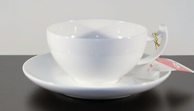 4er Set! Teetasse TeaLogic Epsilon mit Unterteller Fine Bone China