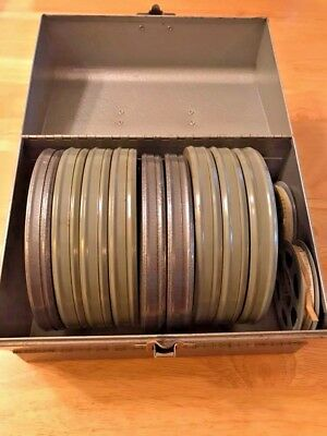 "11 Vintage 1950'S Home Movies 8mm 9 - 5"" and 2 - 3"" reels"