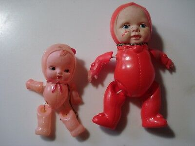 Vintage..Lot Of 2...Occupied Japan....Celluloid Baby Dolls....Strung Toy