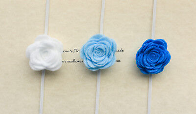 Felt Flower Headband, Baby Headband, Newborn Headband, Handmade set of 3