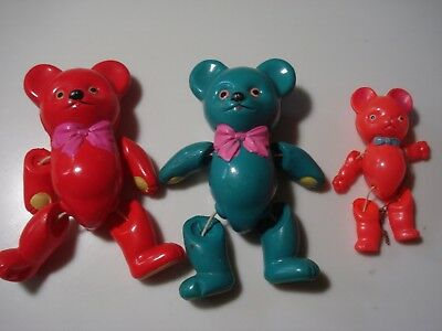 Vintage..Lot Of 3...Occupied Japan & Japan....Celluloid Teddy Bears...Strung Toy