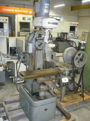 Rockwell Model 21-122  horizontal/vertical mill, milling machine, single phase