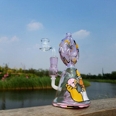dab rig / water bong homer hand blown / drawn, water pipe(tobacco use)