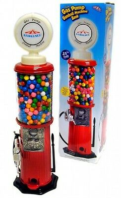 New in the box Gas pump GumBall Machine Bank Nice Gift (New in Box)21 inch tall