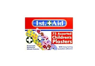 Job lot of12X 75 COLOUR CHILDRENS/KIDS PLASTERS Washable Allergy/Latex Free