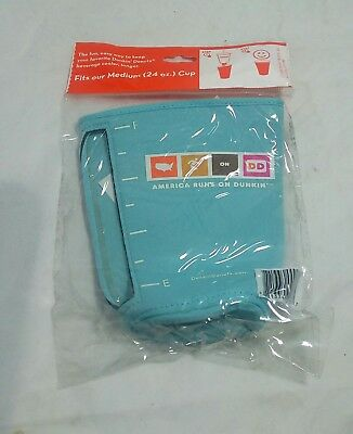 Dunkin Donuts Koozie Cup Cooler Medium 24 Ounce NEW SEALED