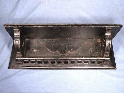 ANTIQUE EASTLAKE CLOCK or KITCHEN SHELF - REMOVED FROM OLD HOUSE WALL - BLACK