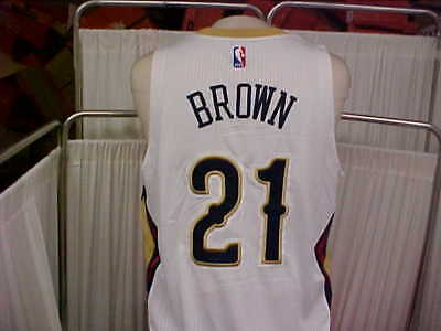 07535ef1c2be NBA 2016-2017 New Orleans Pelicans  21 Anthony Brown Game Worn Jersey Size  XL