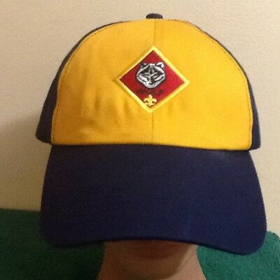 Boy Scouts of America BSA Yellow & Blue Baseball Hat Cap Wolf OSFM S/M