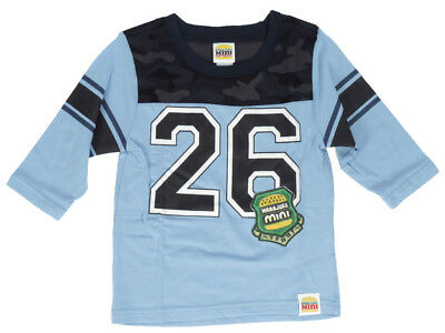 Harajuku Toddler Boys Blue Football T-Shirt