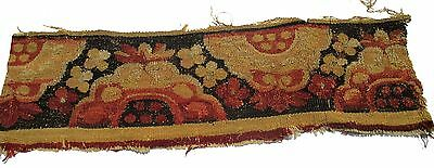 A Superb Antique Tapestry Fragment with Shells
