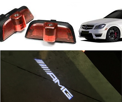 Amg Logo Under Led Puddle Projector Ghost Lights Mercedes Benz C Class W204