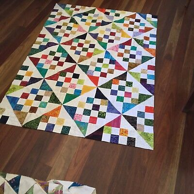 unfinished quilt top 39 x 56 inches approx.