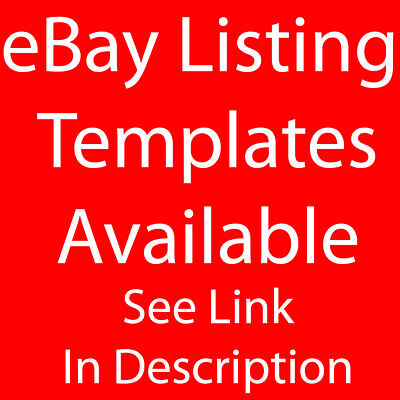 Simple eBay Auction Listing Template HTTPS Responsive Mobile Friendly Design