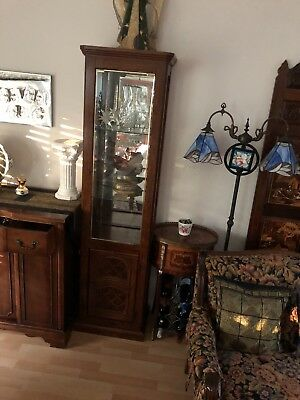 Four  glass cabinets $30 each