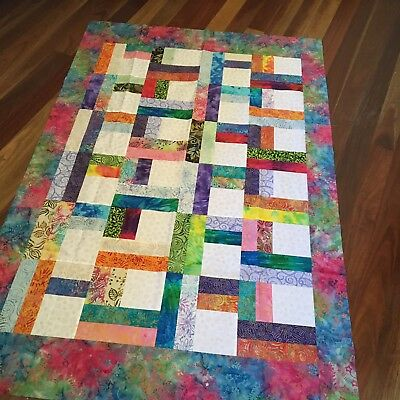 unfinished quilt top 40 x 61 inches approx