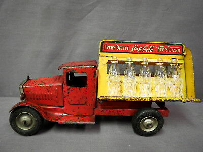 Vintage 1930s Metalcraft Pressed Steel Coca Cola Truck -Series 3, Goodrich Tires