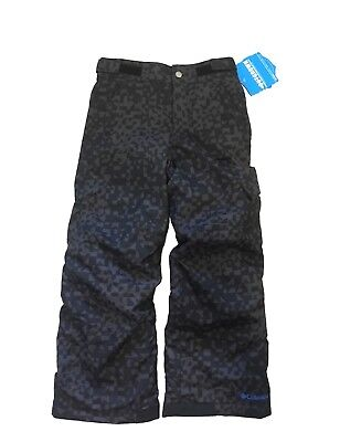 Columbia Youth Small(8)  Black Waterproof Insulated Ski Snowboard Snow Pants NWT