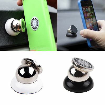 Magnetic Car Cell Phone Holder Mount Dash 360 Rotating For iPhone GPS Samsung