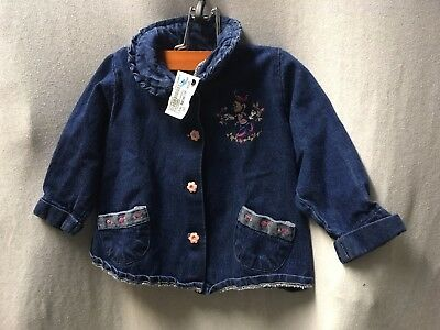 Disney Baby Baby Girl Minnie Mouse Jean Jacket Size 24 Months